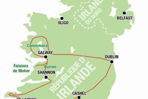 decouvrir l'irlande au depart de lyon